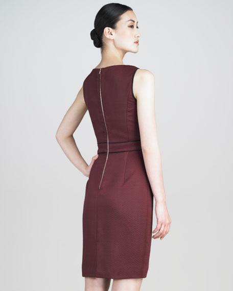Silk Matelasse Pleated Dress