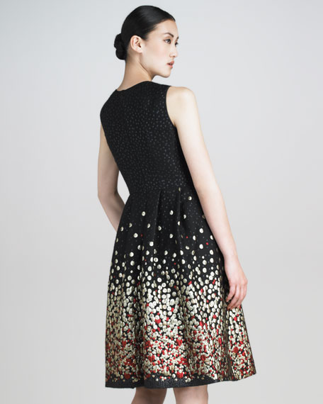 Metallic Dot Jacquard Dress