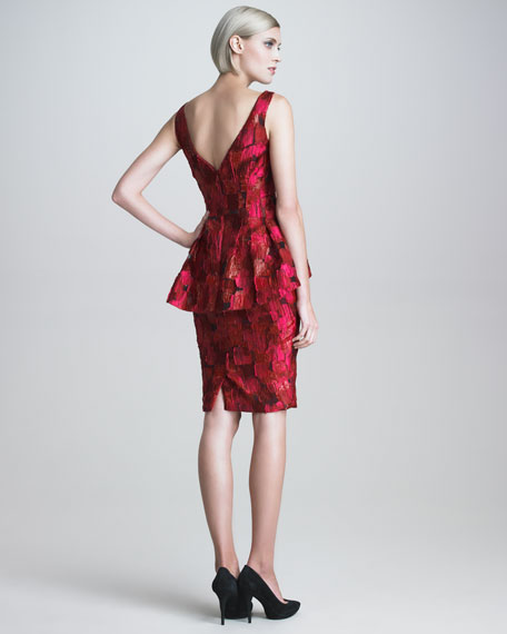 Brushed Fil Coupe Cocktail Dress