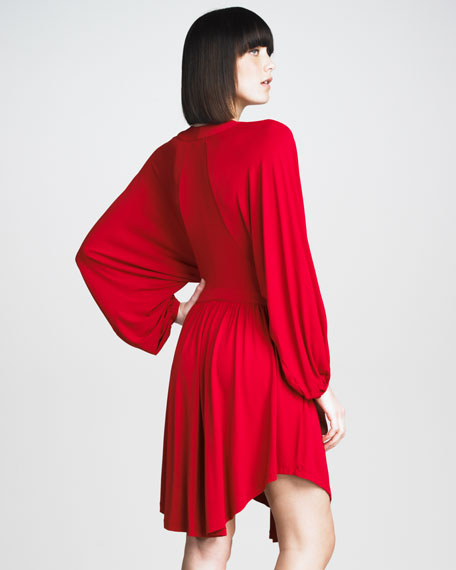 Batwing-Sleeve Dress