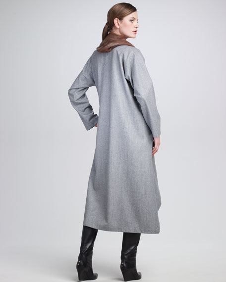 Flannel High-Low Dress