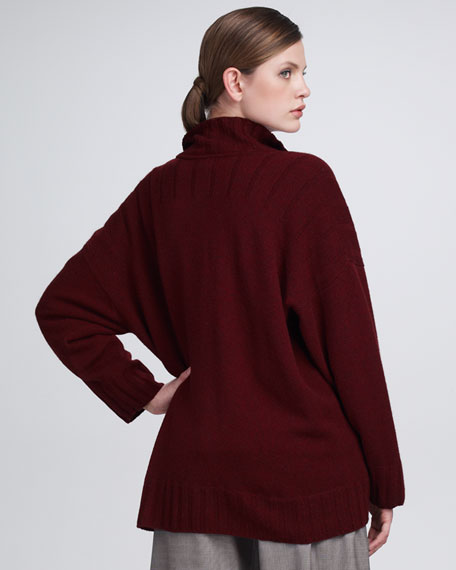 Sweater with Button-and-Loop Closures