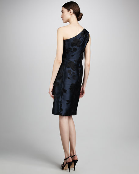 One-Shoulder Floral Cocktail Dress