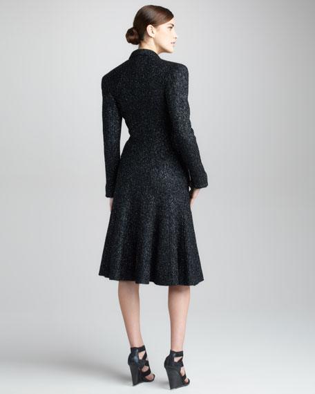 Metallic Tweed Coat, Black