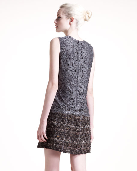 Lace/Tweed Dress