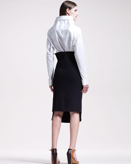 Asymmetric Twill Skirt