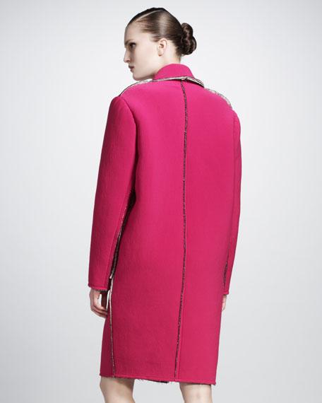 Snap-Front Coat With Drop Shoulder