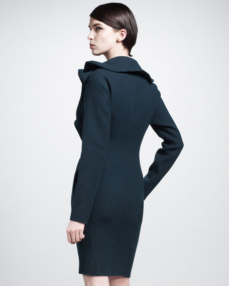 Ruffle-Front Coat