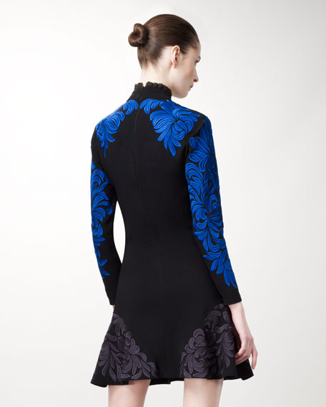 Damask-Embroidered Dress