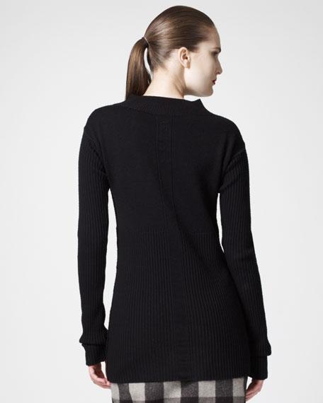 Rib-Knit Merino Sweater