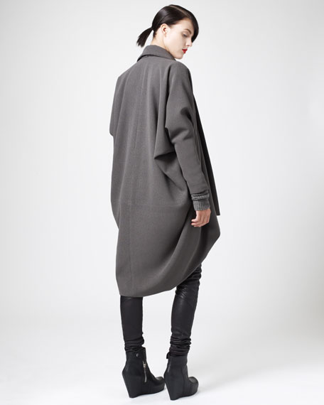 Draped Cocoon Coat