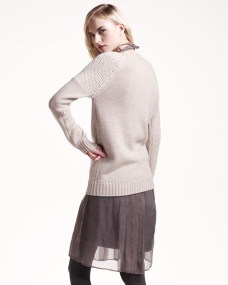Organza-Overlay Skirt