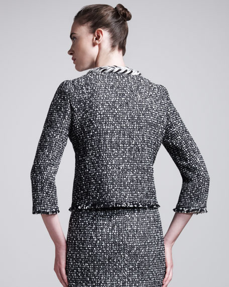 Frayed-Edge Tweed Jacket
