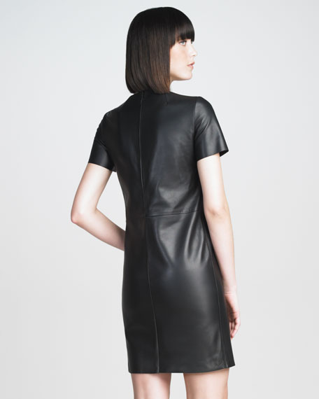 Plonge Leather Dress