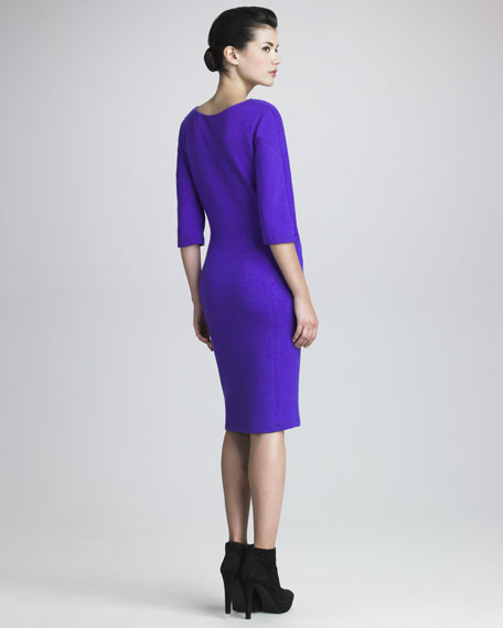 Three-Quarter Jersey Dress