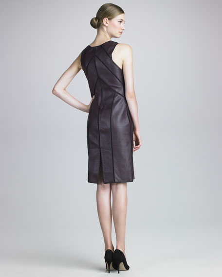 Leather Panel Dress