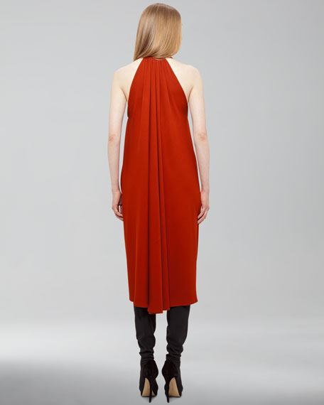 Plunging Jersey Dress