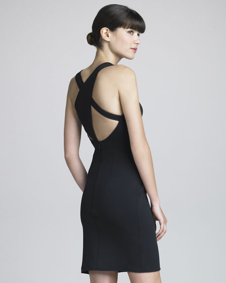 Strappy-Back Sheath Dress