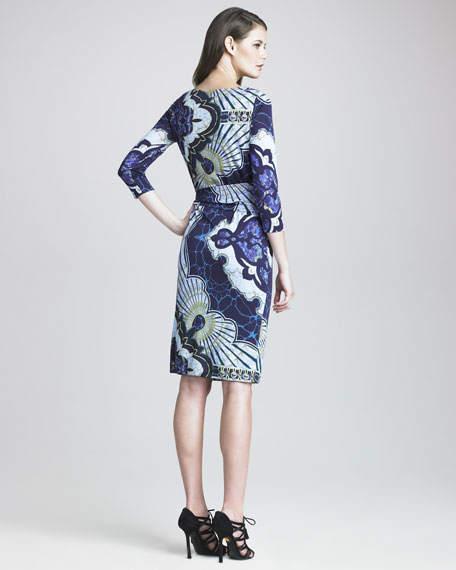 Marilyn Kaleidoscope-Print Dress