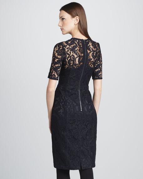 Lace Half-Sleeve Dress