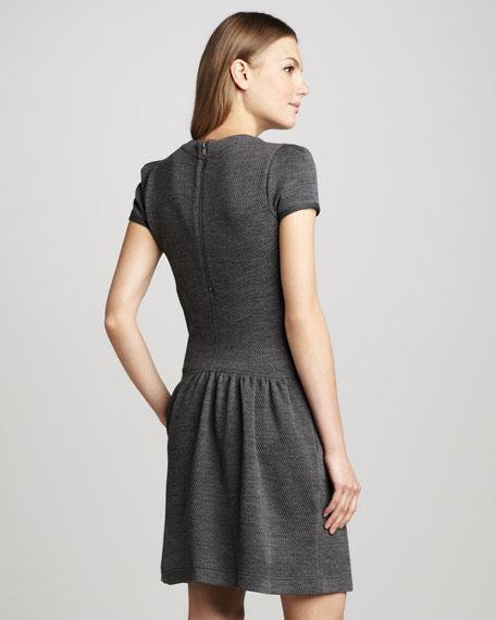 Drop-Waist Jacquard Dress