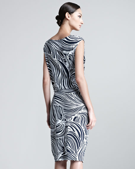 Elira Ocean Printed Jersey Dress