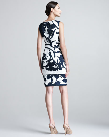 Delfna Embossed Floral Patterned Dress