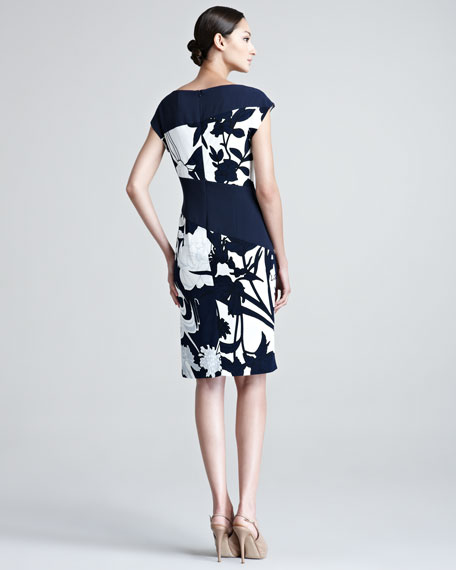 Darenan Cap-Sleeve Floral Print Dress