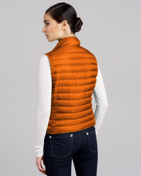 Quilted Puffer Vest, Orange
