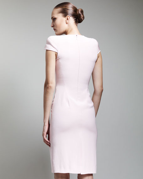 Cowl-Neck Dress, Blush