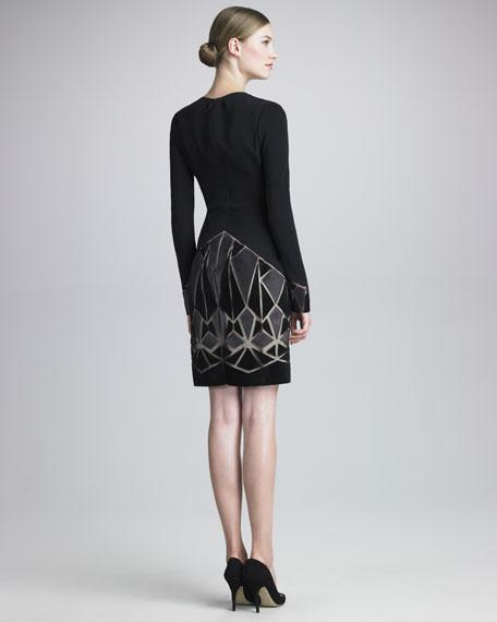 Leather-Mosaic Dress