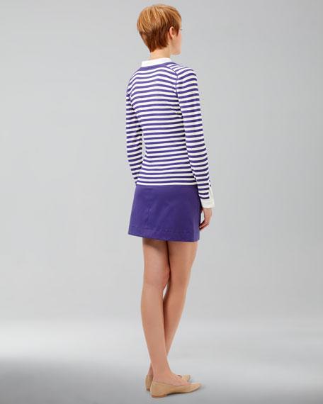 A-Line Twill Skirt, Lavender