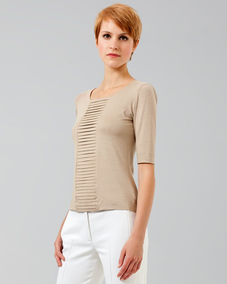 Accordion Pleated Tee