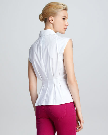 Sleeveless Poplin Blouse