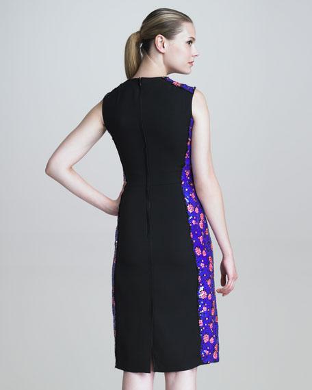 Sleeveless Sequined Sheath Dress