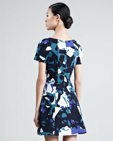 Short-Sleeve Printed Minidress