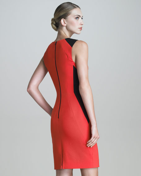 Sleeveless Contour-Seamed Dress