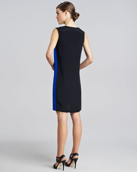 Sleeveless Colorblock Silk Dress