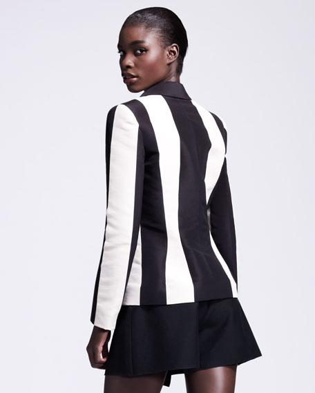 Vertical-Striped Jacket