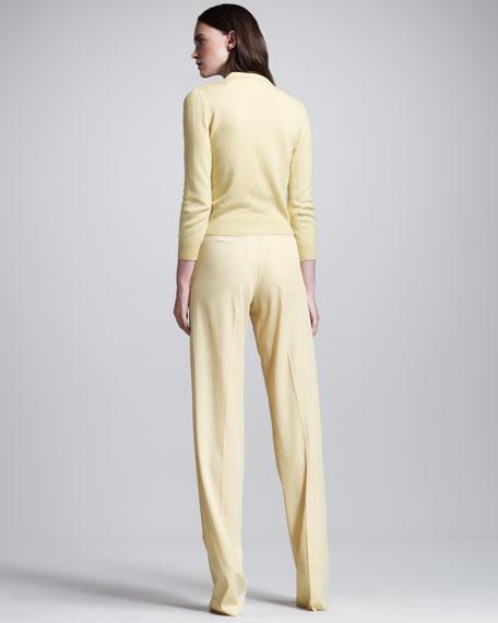 Fluid Gabardine High-Waist Pants