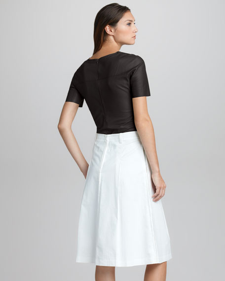 Umbrella-Pleat Skirt