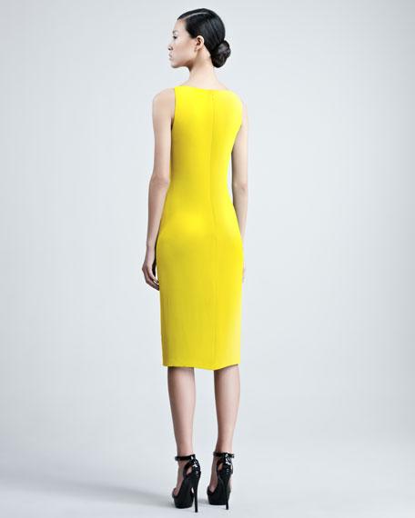 Charisse Silk Cady Dress, Yellow