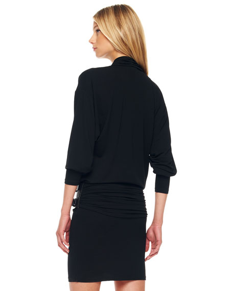Belted Blouson Dress