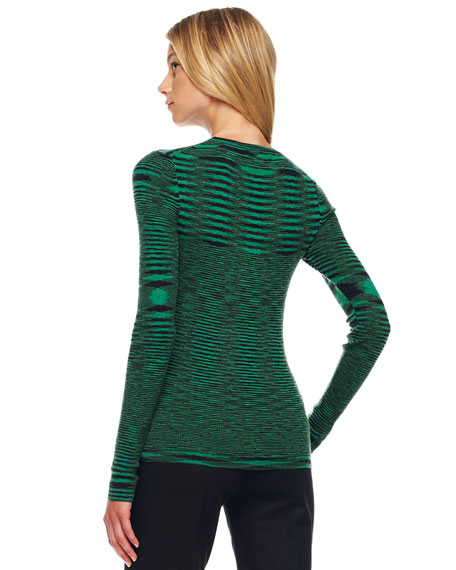 Space-Dye Cashmere Sweater