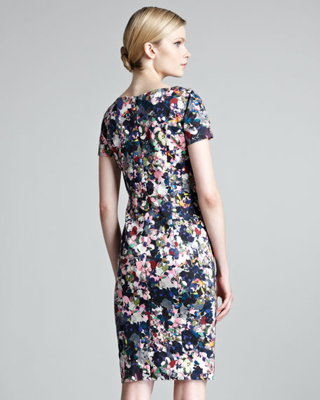 Joyce Short-Sleeve Floral-Print Dress