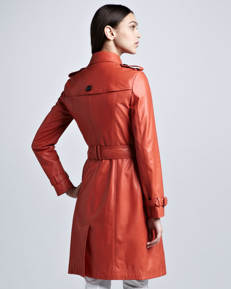 Lightweight Leather Trenchcoat
