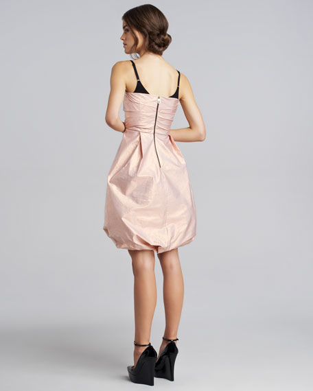 Ruched Taffeta Dress