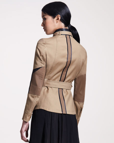 Peterlee Leather-Trim Jacket