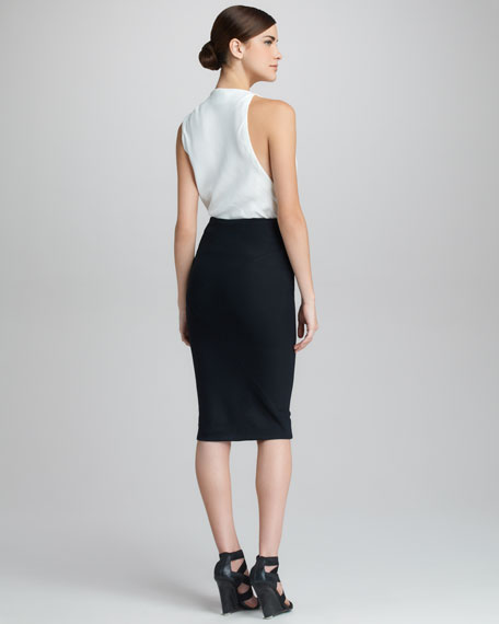 Asymmetric Draped Skirt