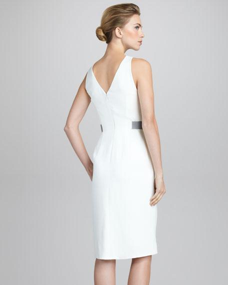 Silk Cady Sleeveless Dress